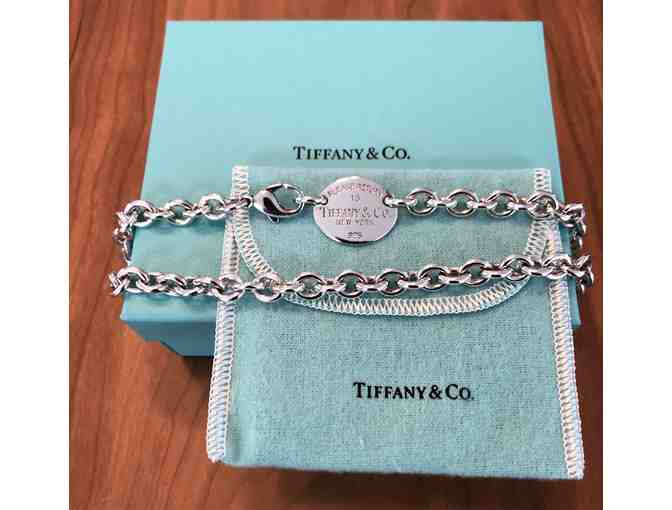 Tiffany & Co. 'Return to Tiffany' Sterling Silver Oval Tag Necklace