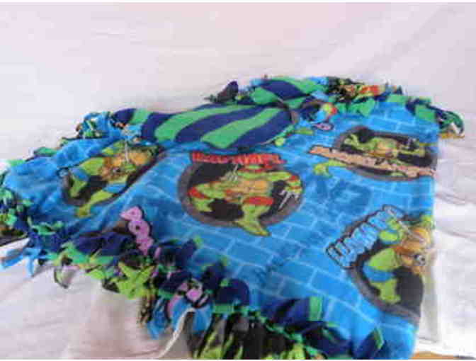 Homemade Teenage Mutant Ninja Turtle Blanket