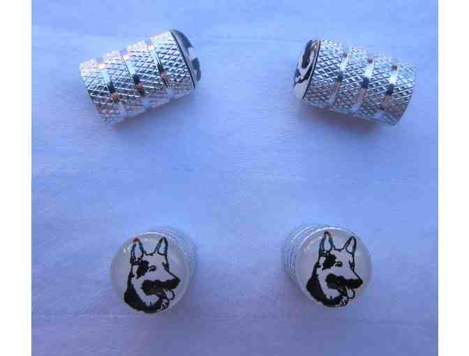 German Shepherd Aluminum Valve Stems - Set of 4