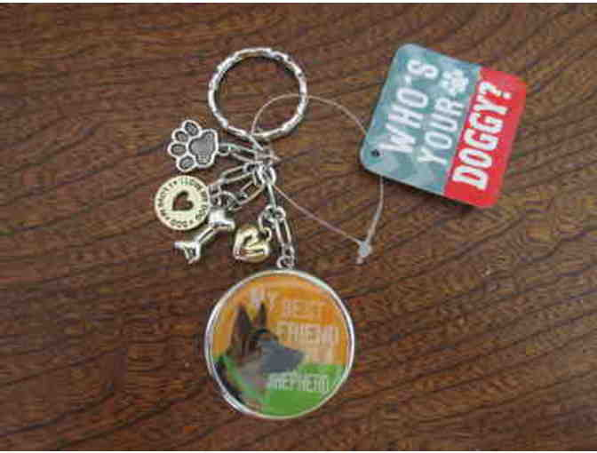 German Shepherd Key Chain with Charms