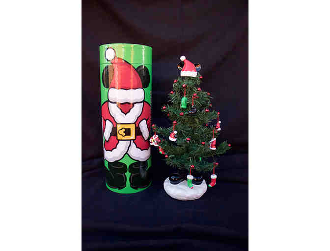Miniature Santa Mickey Mouse Christmas Tree with Mailer Tube