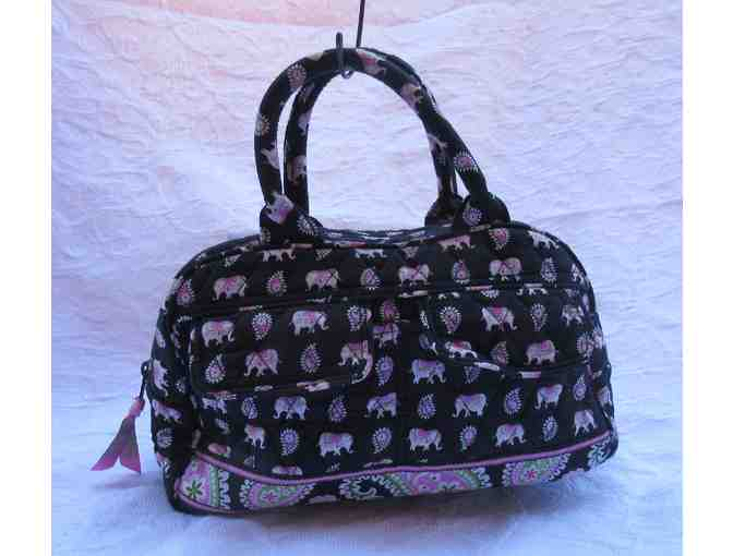 Vera Bradley Pink Elephant and Paisley Cloth Satchel