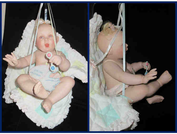 Porcelain Baby Doll In Blanket