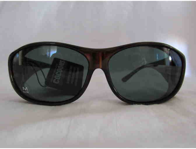 Cocoons Sunwear - Designed To Wear Over Prescription Glasses -  Med  Chocolate/Gray - Photo 3