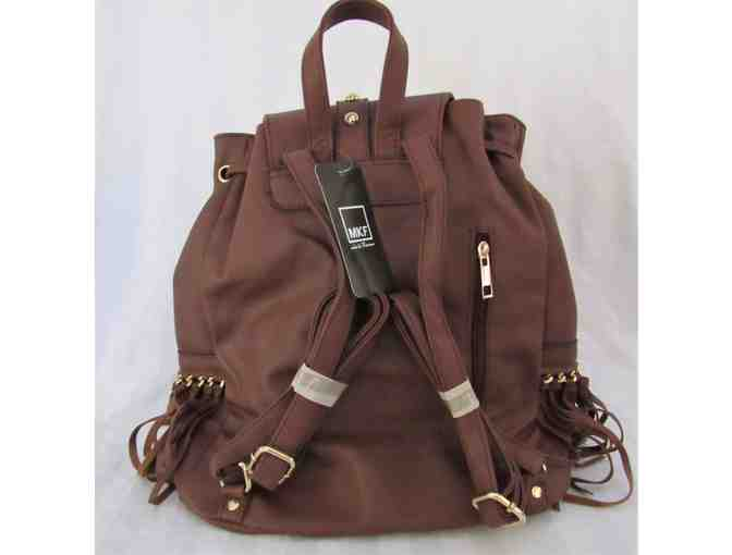 Brown Fringe Studded Backpack - Photo 3