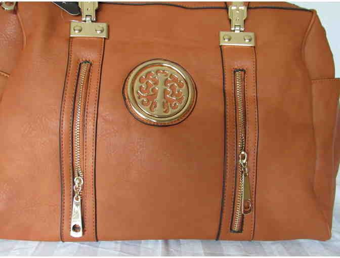 Brown Barrel Bag from the MKF Collection by Mia K. Farrow - Photo 6