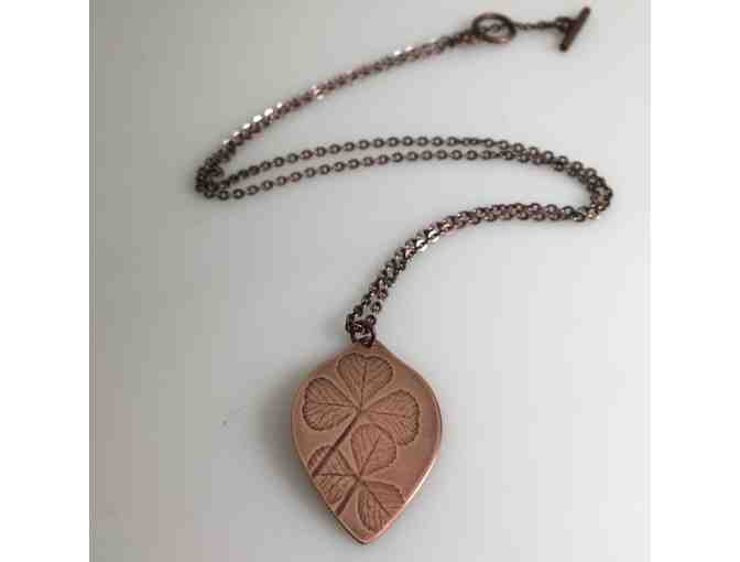 Patterson Park Clover Copper Necklace by Allison Fomich