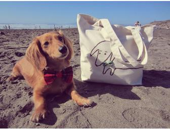 Organic Dachshund Canvas Tote Spring Has Come