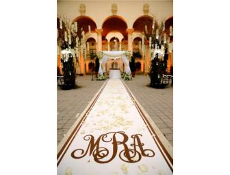 Cusotm Hand Painted Aisle Runner