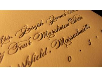 Custom Letterpress Invitation Suite for 175