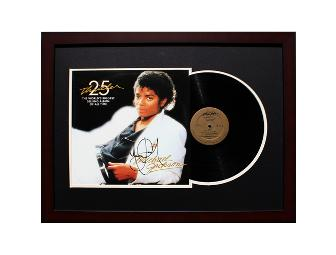 Michael Jackson Signed, Framed & Matted Music Record Album