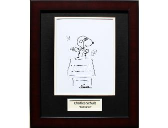 Charles Schulz Original Hand Drawn, Signed, Framed & Matted 8x10 Sketch