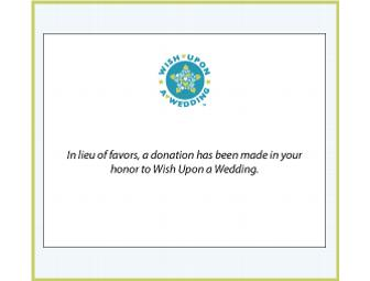 In lieu of Favors Tented Cards from Wish Upon a Wedding