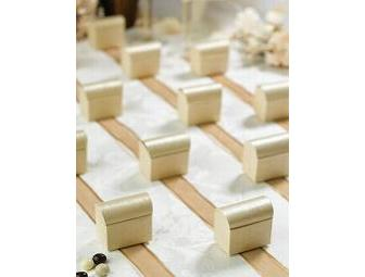 100 Ivory Wedding Chest Favor Boxes