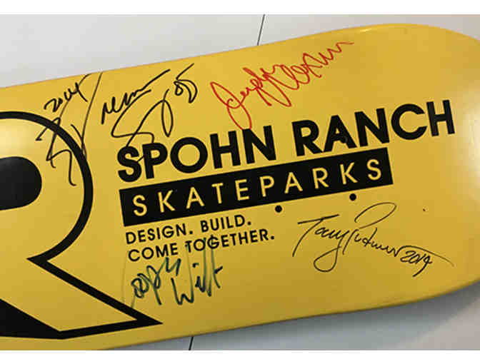 Autographed Spohn Ranch Skateboard ($300 estimated value)