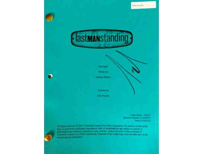 Authentic Tim Allen Autographed Script from Last Man Standing