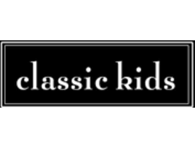 Gift Certificate from Classic Kids Burlingame
