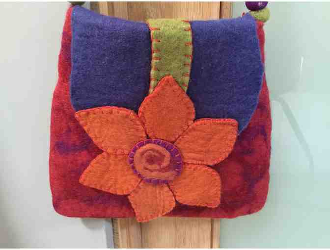 100% Wool Felted Purse