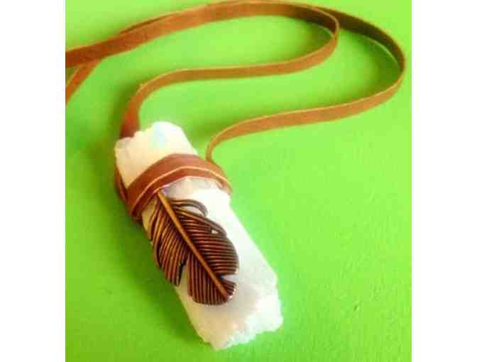 Waves of Healing - Selenite Crystal Necklace