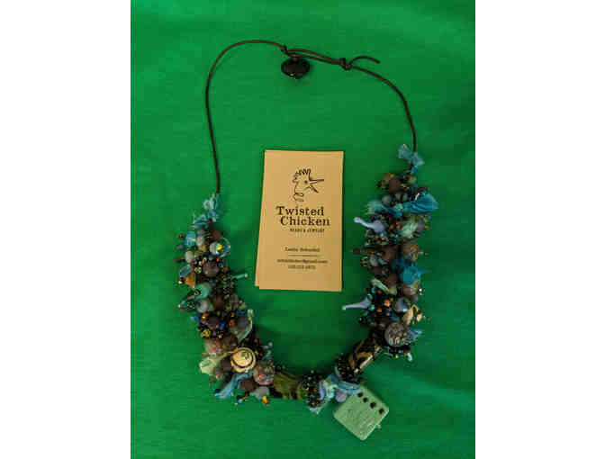 Beaded Necklace - Twisted Chicken Beads - Brimfield