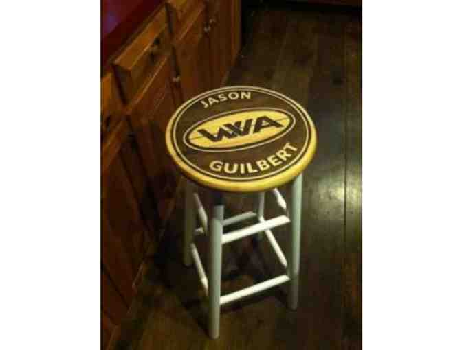 2 Custom Bar Stools with laser-engraved name, BBTS logo and/or Waterville Valley Academy