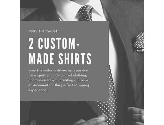 Two Custom-Made Shirts by Tony the Tailor - Photo 1