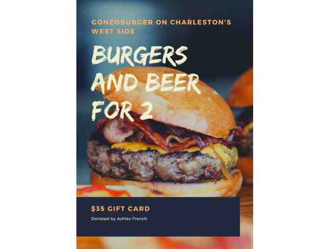 Burgers and Beer for 2 at Gonzoburger - Photo 1