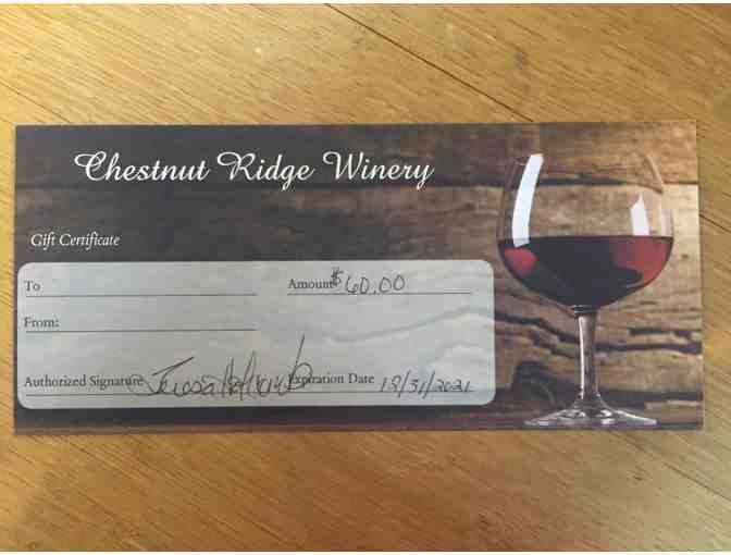 Wine Tasting and Gift Certificate at Chestnut Ridge Winery - Photo 3