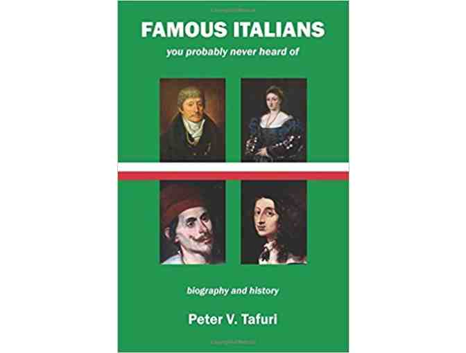 Famous Italians Autographed Book by Peter Tafuri