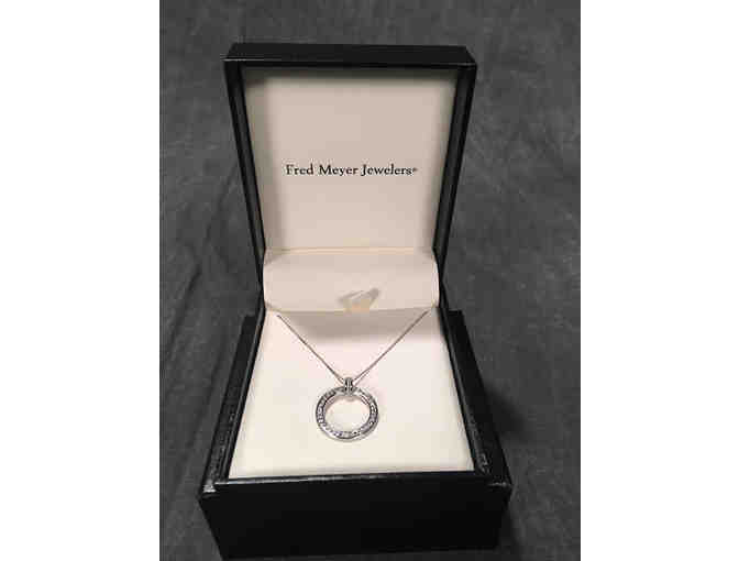 1/3 cttw. Diamond Circle Pendant set in 14kt White Gold - Fred Meyer and Littman Jewelers