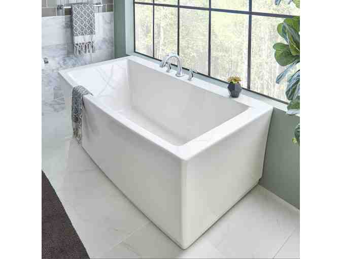 Freestanding Bath Tub + Matching Toilet from Eastern Penn Supply