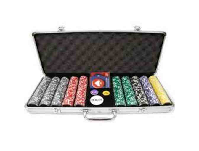Poker Chips in Aluminum Carrying Case