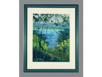 Dick Kane Original Framed Acrylic Honeoye Lake