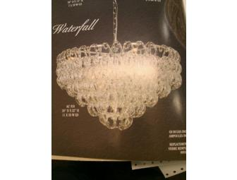 CONTEMPORARY CRYSTAL CHANDELIER FROM THE WATERFALL COLLECTION BY ARTCRAFT LIGHTING