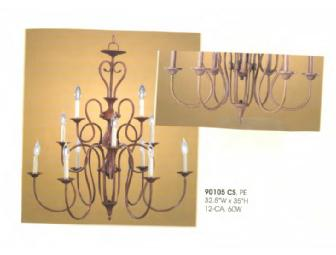 MAXIM LIGHTING OFFERS THIS CHANDELIER FROM THEIR PASO ROBLES COLLECTION -- PEWTER