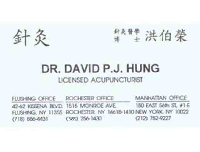 Acupuncture Treatment Certificate from David Hung, L.A.