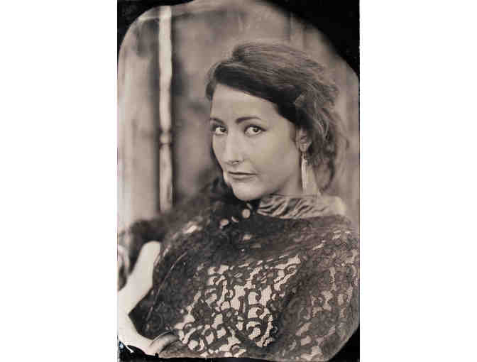 A ruby ambrotype studio portrait at Genesee Libby Studio