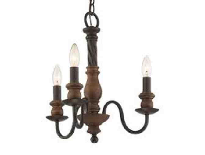 Mini Chandelier Light from the Odell Collection with Imperial Bronze Finish by Quoizel