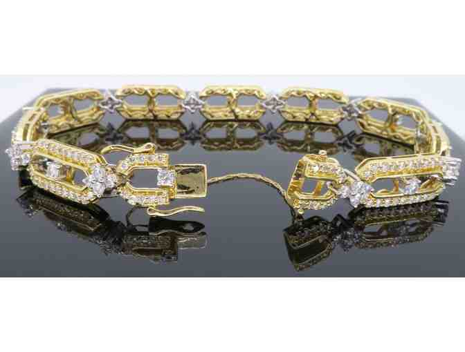 4.00 Carat Diamond and Two-Tone Gold Bracelet