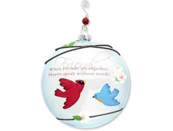 'Friends' Glass Ornament by Peace Love Birds