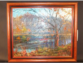 Dick Kane Original Oil Painting Framed - Fall Afternoon