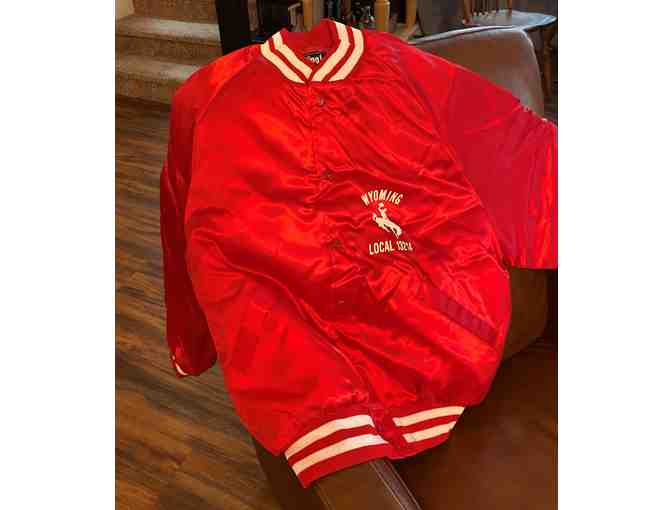 Vintage Red Satin Commemorative Baseball USW Jacket
