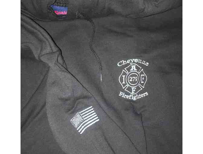 Cheyenne Firefighters Premium Embroidered Hoodie Size L - Photo 1