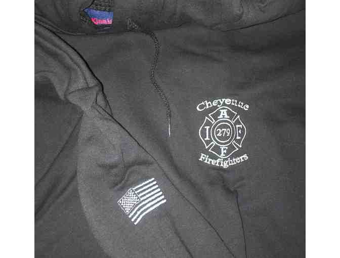 Cheyenne Firefighters Premium Embroidered Hoodie Size XXL - Photo 1