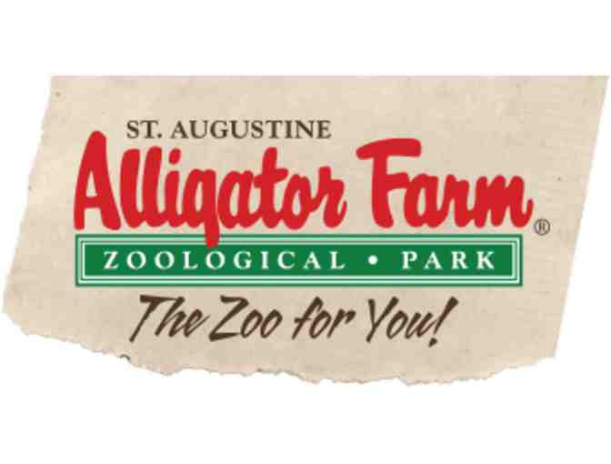 Alligator Farm Zoological Park Certificate Pass for 4- St Augustine, FL