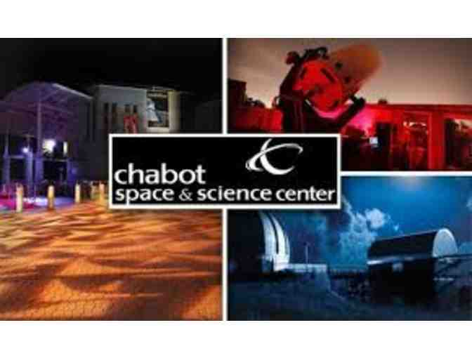 Certificate for 4 Admissions to Chabot Space & Science Center- Oakland, CA