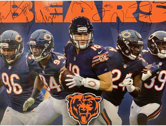 Chicago Bears Autographed (Laser) Mini Poster