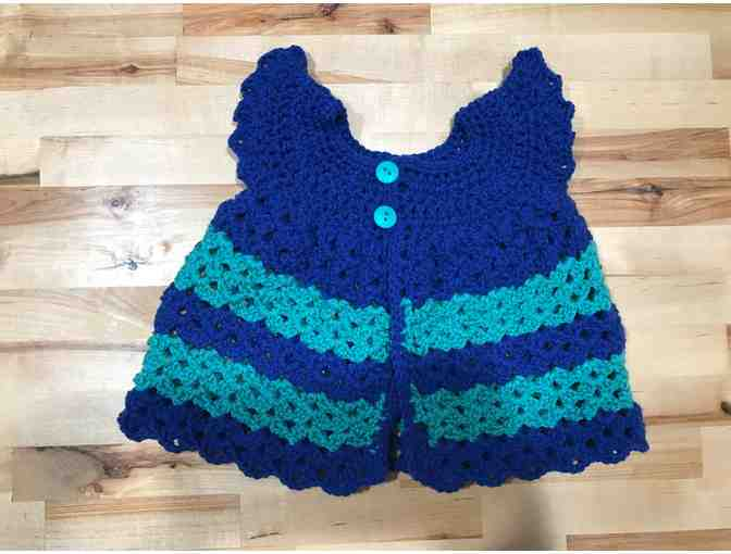 Homemade Blue Striped Summer Dress for Babies
