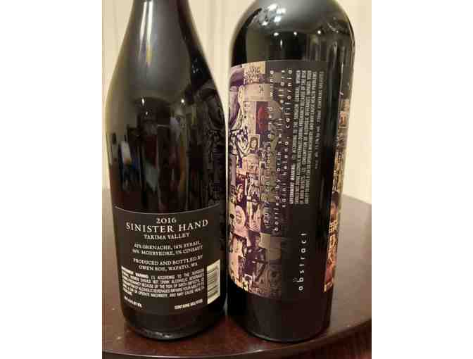 2017 Abstract + 2016 Sinister Hand- Red Wines