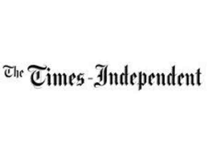 Times Independent- One Year Subscription